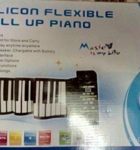 Гибкое профессиональное MP3 пианино 88 клавиш на а
