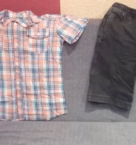 Рубашка и бриджи джинсовые