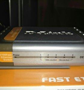 Коммутатор D-Link DES-1005D 5 портовый