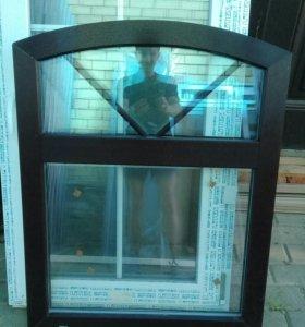 Новое ламинированное 2х камерное окно