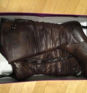 Новые зимние кожаные сапоги