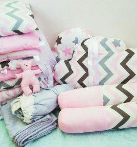 Комплект в кроватку.торг уместен