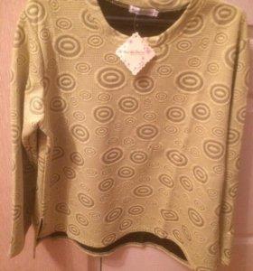 Блузка желтая не в обтяжку