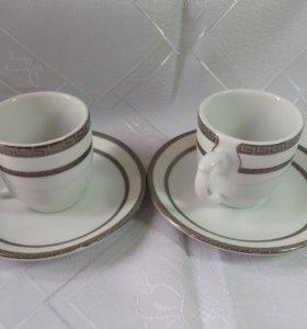 Кофейные чашки новые в коробке-6 чашек и 6 тарелок