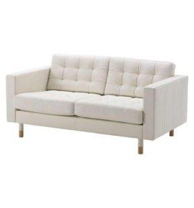 Кожаный диван Икеа Ландскруна