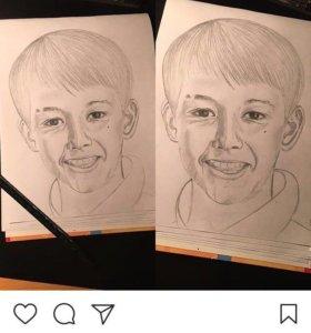 Рисование портретов на заказ