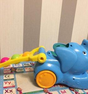 "Игрушка-каталка Playskool ""Слоник"", цвет: голубой"