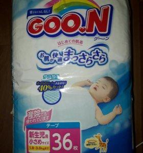 Подгузники COO.N (1.8 - 3.0 кг) 36 шт