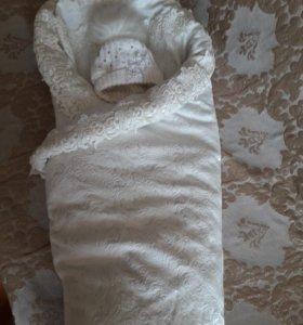 Одеяло-плед на выписку(осень-зима)