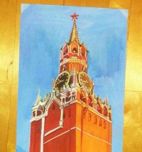 Картина Спасская башня