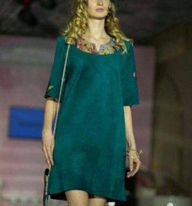Платье из натуральной замши