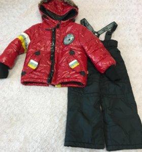 Зимний костюм на мальчика, 86-92, валенки 24 р