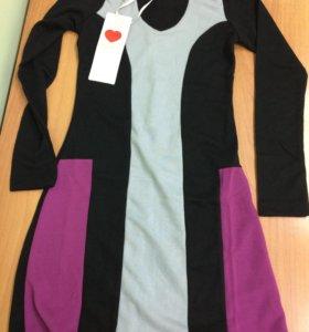 Платье новое на девочку 8-9 лет