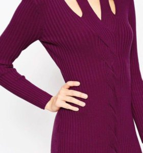 Платье-лапша винного цвета