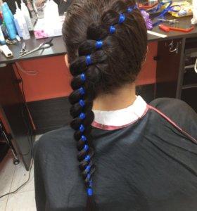 Укладки, причёски, плетение, стрижки, рисунки