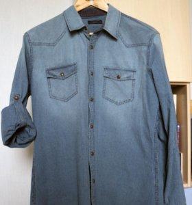 Джинсовая рубашка colins