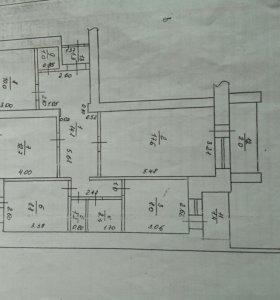 Квартира, 4 комнаты, 76.7 м²