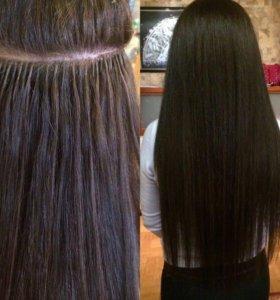 Наращивания волос, горячее наращивания