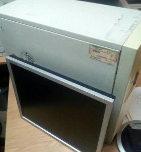 Системный блок офисный и монитор.