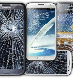 Замена разбитого стекла на телефонах Самсунг
