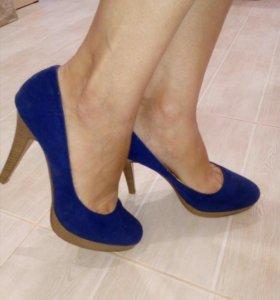 Туфельки синие
