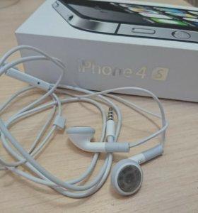 Наушники на iPhone 4s оригинальные