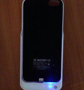 Аккумулятор-чехол на айфон 5,5s.