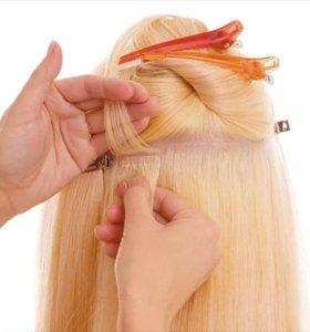 Ленточное наращивание волос, снятие коррекция
