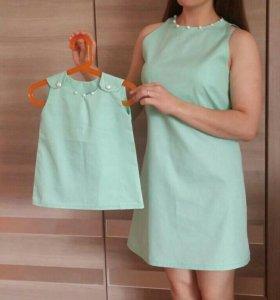 Платья для мамы и дочки