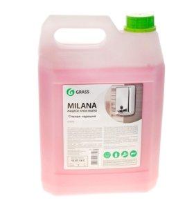 """Жидкое крем-мыло """"Milana"""" спелая черешня (5 кг)"""