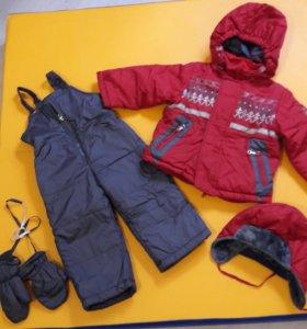 Зимний костюм на 1-2года р80