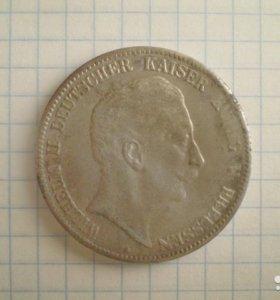 5 марок (funf mark) 1907 года