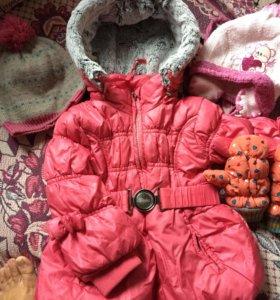 Курточка+шапочки и варежки