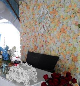 Цветочная стена,фотозона