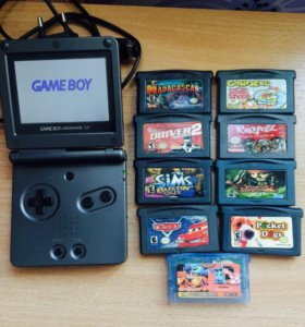 Продам Game Boy Advance с картриджами