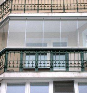 Балконное остекление из алюминиевого профиля и ПВХ