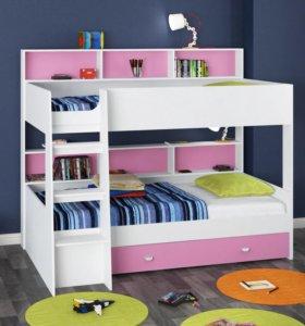 Двухъярусная детская кровать Golden Kids 1 Новая