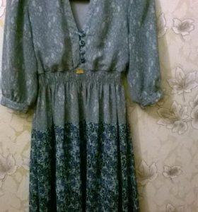сатиновое платье с подкладом