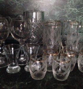 Бокалы, стаканы, стопки