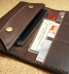 Новый Клатч-кошелек из 100% натуральной кожи.