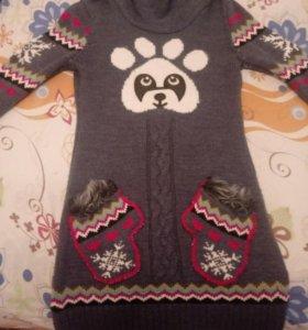 Кофта теплая панда
