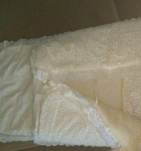 Конверт на выписку осень-зима с одеялом