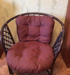 Ротанг,  мебель: кресла и столик