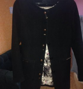 Пальто женское чёрное