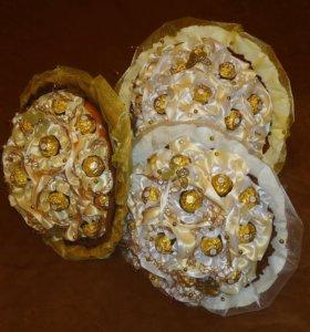 Букет с конфетами Ферреро роше, в букете 19 конфет
