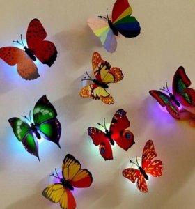 Светящиеся бабочки для декора (Ночник)