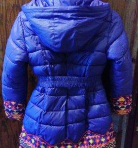 Зимняя куртка на девочку 8-10лет