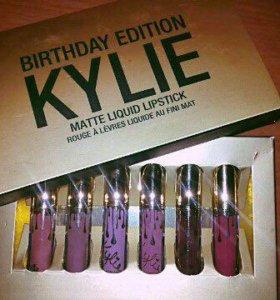 Набор матовых жидких помад Kylie Birthday Edition