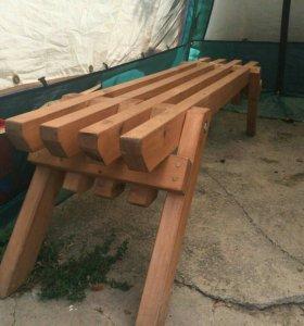 Деревянная мебель, скамейки, столы