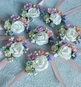 Бутоньерка для подружки невесты